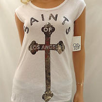 New Urban Outfitters Chaser White Saints of Los Angeles Motley Crue Tee Small Photo