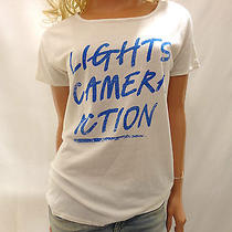 New Urban Outfitters La Made Tee Lights Camera Action Ivory Shirt Size Small Photo