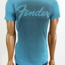 New Urban Outfitters Men Chaser Baby Blue Fender Guitar Tee Shirt Size Small Photo