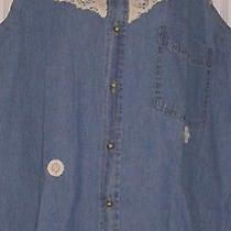 New Urban Outfitters Urban Renewal Embroidered Denim Shirt  Lge / Bust to 36