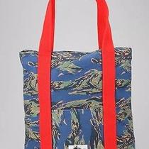 New Urban Outfitters Wesc Blue Camouflage Red Strap Tote Bag Designed in Sweden Photo