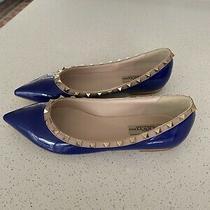 New Valentino Flats Blue Us 8/8.5 Photo