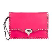 New Valentino Rockstud Leather Clutch With Tags Photo
