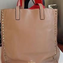 New Valentino Rockstud Tote Nude Leather Tote Photo
