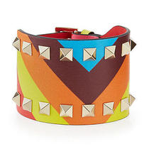 New Valentino Wide Chevron Rockstud Cuff Bracelet . Org. 795 Photo