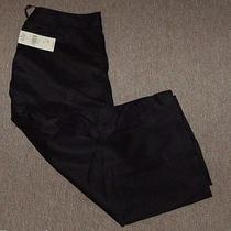 New Valerie Stevens Black Capri 100% Linen Sportswear Separates Pants Sz 10 58 Photo