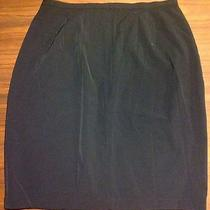 New Valerie Stevens Collection Short Black Pencil Skirt High Waist 10 Free Ship Photo