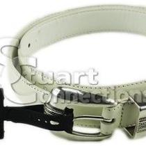 New Valerie Stevens Women's White Western Buckle Leather Belt Large Pl8041100 Photo