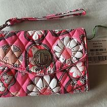 New Vera Bradley Blush Pink Smartphone Wristlet Wallet 44 Photo
