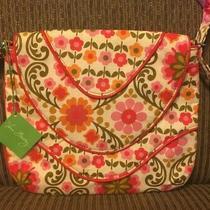 New Vera Bradley Crossbody Folkloric Purse Handbag Orange Pink Green Photo