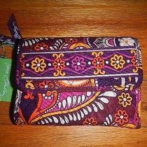 New  Vera Bradley Euro Wallet  Retired Safari Sunset Mom Sleek Compact Id Card Photo