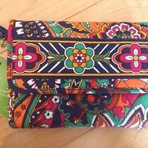 New Vera Bradley Euro Wallet Venetian Paisley Bright Pretty Colors Photo