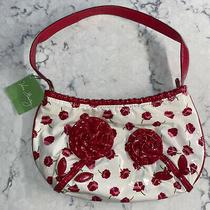 New Vera Bradley Frill Collection Comin Up Roses Style Handbag Make Me Blush Photo