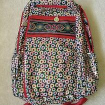 New Vera Bradley Frill Large Lylas Backpack in Symphony in Hue- Retired Nwt Photo