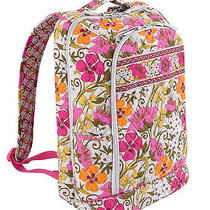 New Vera Bradley Laptop Backpack   Tea Garden Photo