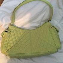 New Vera Bradley Lime Green Quilted Microfiber Hobo Pocket Purse Photo