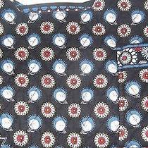 New Vera Bradley Purse Quilted Black White Flowers Blue Owls Print Sachel Frame Photo