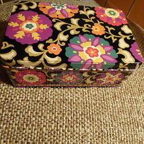 New Vera Bradley Suzani Storage Tin Jewelry Box Pencil Box Photo