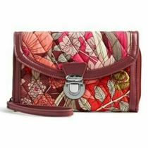 New Vera Bradley Ultimate Wristlet Wallet in Bohemian Blooms Faux Leather Trim Photo