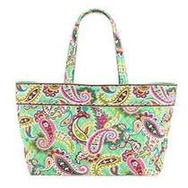 New Vera Bradley Xl Grand Tote Bag Travel Shoulder Bag in Tutti Frutti Print Photo