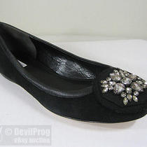 New Vera Wang Footwear Hope Ballet Flat Shoes Us 7 Black Suede/leather/crystals Photo