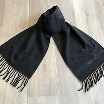 New Versace 100% Wool Dark Grey Scarf Men Photo
