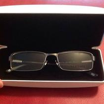 New Versace Glasses Metal & Black Frame 1181 1262 53 17 140 Made in Italy & Case Photo