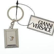 New Versace Luxury Medusa Head Logo Keychain Key Ring Key Holder Must Have Photo