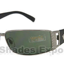 New Versace Sunglasses 2021 Gunmetal 1001/6 Photo