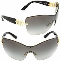(New) Versace Sunglasses Ve 2156b 1002/11 Gold / Grey Gradient Lens Photo