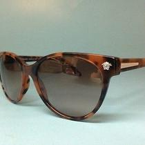 New Versace Sunglasses Ve 4214 944/13 56-17 Dark Havana W/brown Gradient Lenses Photo
