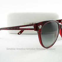 New Versace Sunglasses Ve 4214 Wave Red 935/11 Authentic Photo