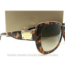 New Versace Sunglasses Ve 4250 Amber Havana 998/13 Italy Authentic Photo