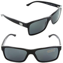 (New) Versace Sunglasses Ve 4274 Gb1/87 Black / Grey Lens Ve4274 Photo