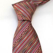 New Versace Tie - Rainbow Prism Stripes Nwot Photo