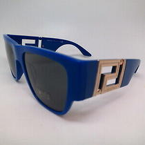 New Versace Ve 4403 529487 Blue W/ Dark Grey 529-487 Sunglasses 57mm Photo