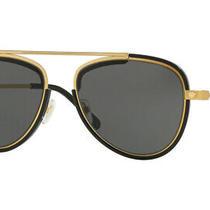 New Versace Ve2193 142887 Men's Tribute Gold/black Frame Grey Lens Size 56 Photo