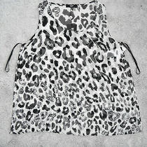 New Versus Versace Designer Womens Over Top Black White Lion Print Side Cut Uk8 Photo