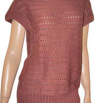 New Victoria's Secret 48 Blush Pink Cap Sleeve Crochet Tunic Sweater S Photo