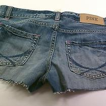 New Victoria's Secret Pink Blue Denim Shorts Size 6 Photo