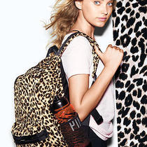 New Victoria's Secret Pink Campus Backpack Cheetah Animal Leopard Laptop Full Sz Photo