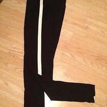 New Victoria's Secret Pink Yoga Fashion Leggings Cotton Black White Xsmall Xs Photo