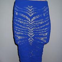 New Victoria's Secret Seamless Zebra Midi Skirt - Sz Xs/s - Cobalt Photo