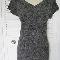 New Victoria's Secret Vsx Sport Tee Shirt Raglan Short Sleeve Gray Black Sz L/g Photo