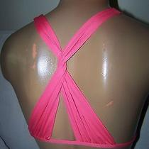 New Victoria Secret Bikini Swimsuit Top X Back Small Pink Photo