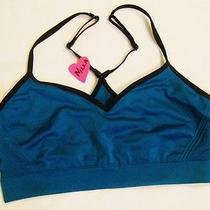 New Victoria Secret Emerald Black Sport Medium Yoga Bralette 34c D 36a B C Photo
