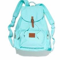 New Victorias Secret Pink Backpack Bookbag Travel Aqua Tiffany Blue Full Size Photo
