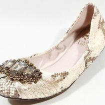 New Vince Camuto Gold Snake Jeweled Flats Shoes 6 - Super Cute Photo