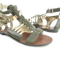 New Vince Camuto Jenorra Brown Multi T-Strap Flat Sandals 8m Photo