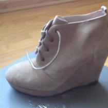 New Vince Camuto Kelliana Platform Wedge Shoe Boots Taupe Womens 9.5 Medium Photo